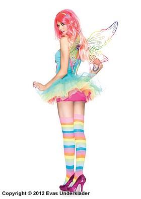 Regnbågsfärgad maskeradklänning